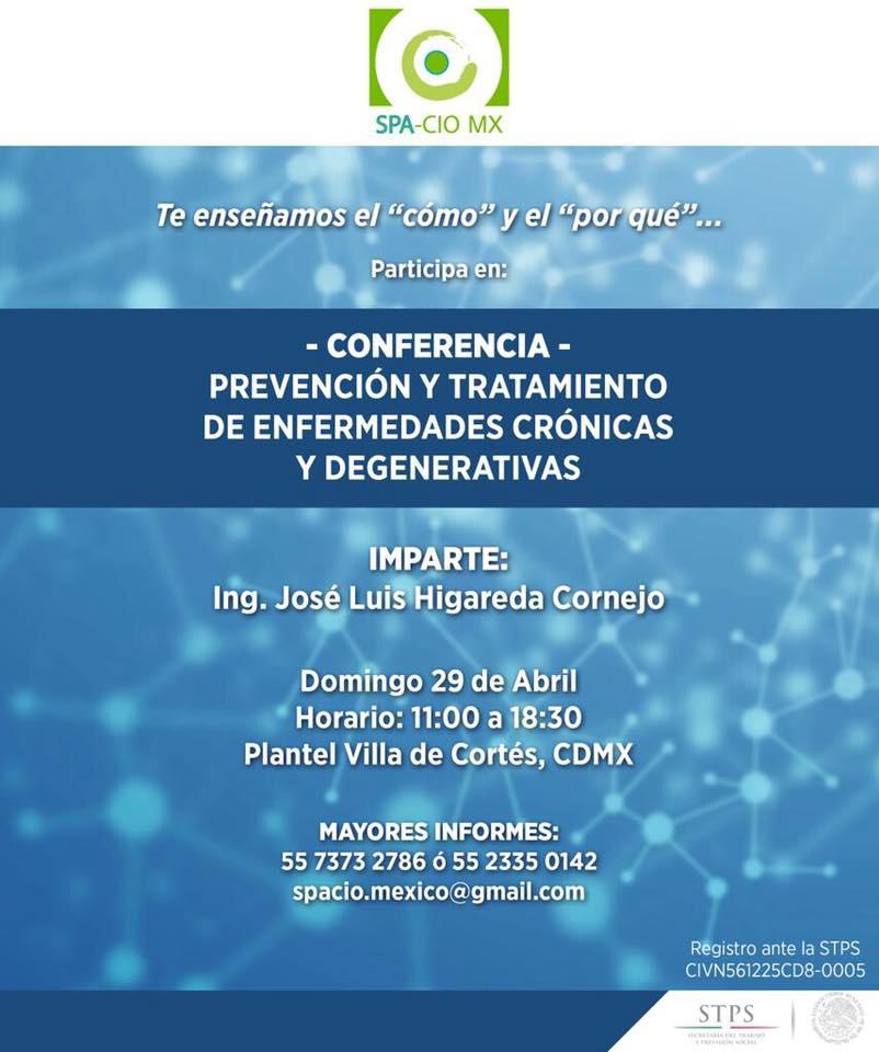 Conferencia, prevención y tratamiento de enfermedades crónicas y degenerativas
