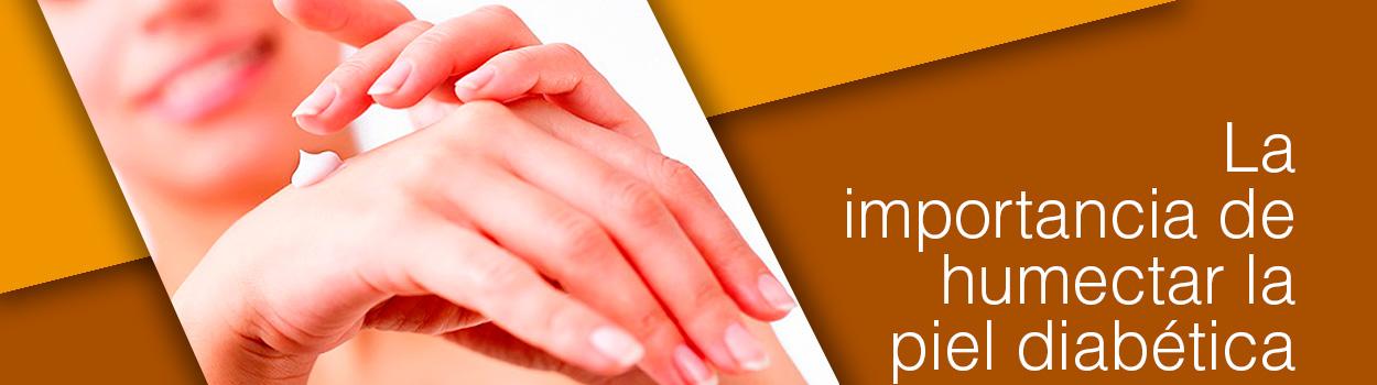 La importancia de humectar la piel diabetica
