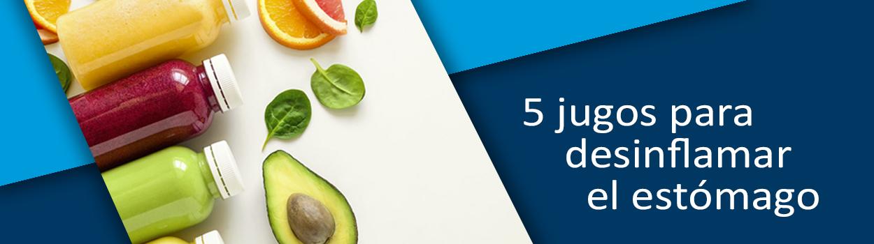 5 jugos para desinflamar el estómago