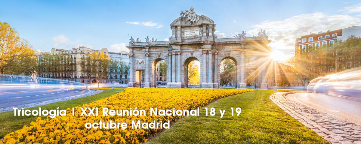 XXI Reunión Nacional del grupo español de tricología de la AEDV.