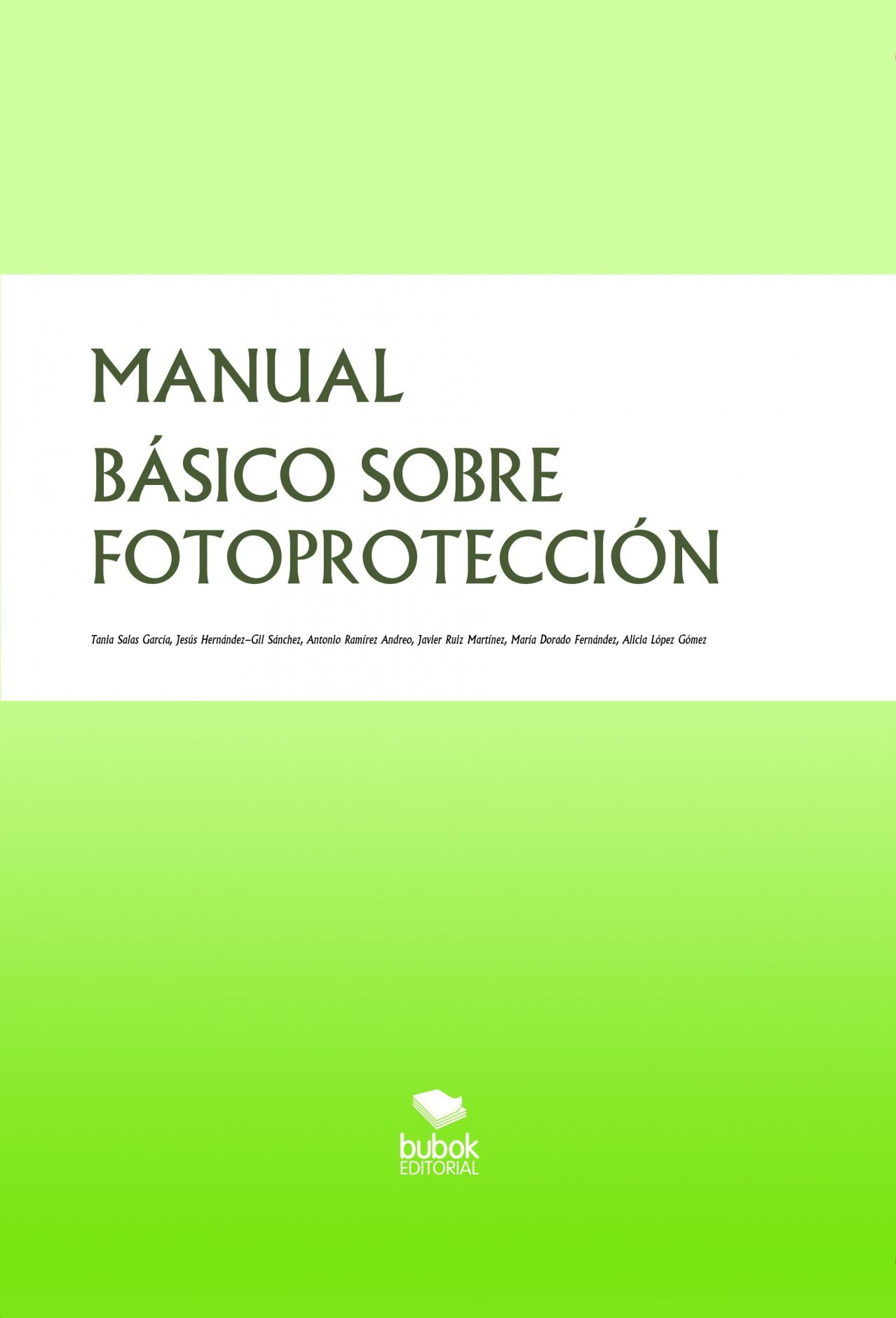 MANUAL BÁSICO SOBRE FOTOPROTECCIÓN