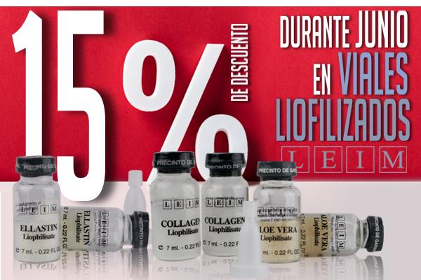15% de descuento en Viales Liofilizados by Leim