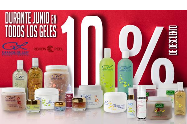 10% de descuento en Todos los Geles by Grande de Leim