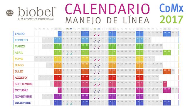 Calendario Manejo de línea Biobel