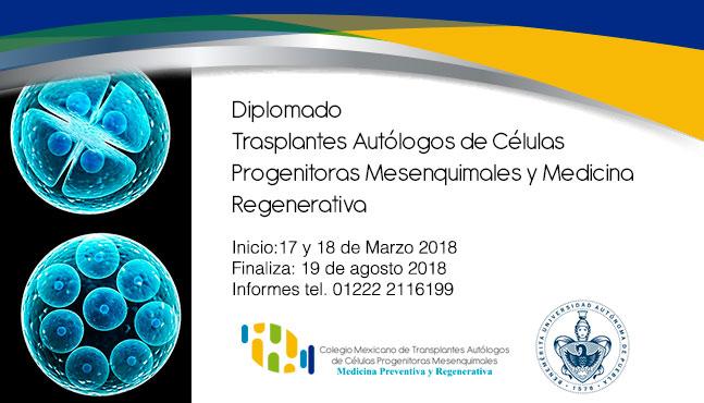 Diplomado  Trasplantes Autólogos de Células Progenitoras Mesenquimales y Medicina Regenerativa