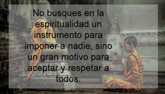 No busques en la espiritualidad