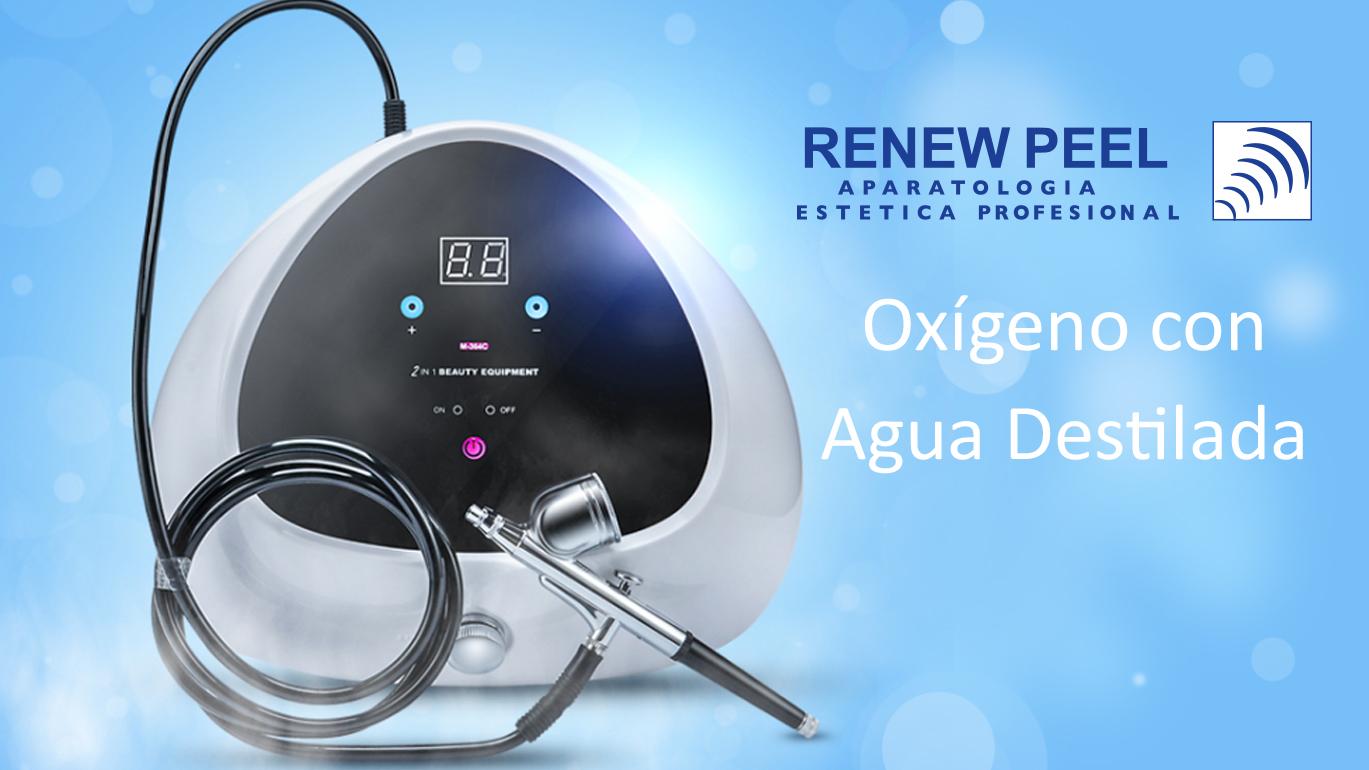 Equipo Oxígeno con Agua Destilada